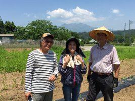 農業ボランティアの方と夏野菜栽培